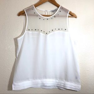 American Eagle Outfitters Sheer Star Tank Top sz M